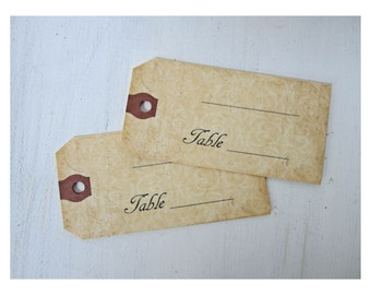 Wedding Escort Card, Place Card, Rustic Escort Card, Country Name Card, Vintage Escort Card, Place Card Tag, Wedding Name Tag, E001,V01