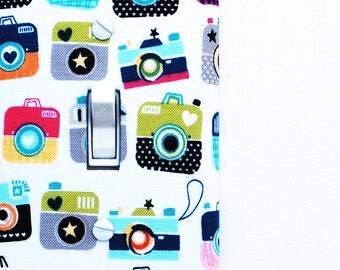 Light Switch Plate Cover, wall decor - colorful cameras