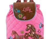 Signature Horse Stephen Joseph Toddler Backpack with Personalization