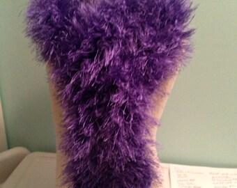 Scarf, Scarves, Boa Style Scarf, Purple, Crochet