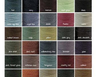 150 Yards Irish Waxed Linen Thread Crawford Cord Crawford 4 Ply 30 Colors 5 Yards Each