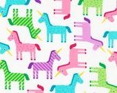NEW from Ann Kelle, WONDER Unicorns Fabric by Robert Kaufman in Sweet, yard