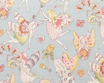 Flower Fairies in Soft Blue  by Alexander Henry, FAT QUARTER