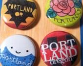 Portland Pin Pals pin set