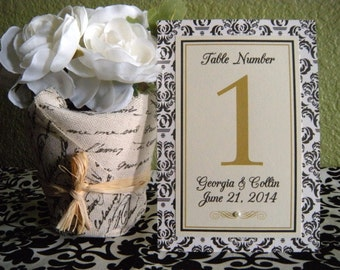 4x6 Custom Printed Wedding Table Number Signs - Any Message, Color or Style