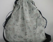 Graphpaper Science Lace Knitting Large Drawstring Project Bag