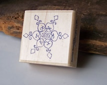 Rubber Stamp, Snowflake Stamp, Snowflake, Stampabilities, Wood Mounted Rubber Stamp, Scrapbooking Supplies, Card Making, Etsy, Etsy Supplies
