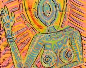 SALE Original Expressive Energetic Angel Spirit Guide Padme