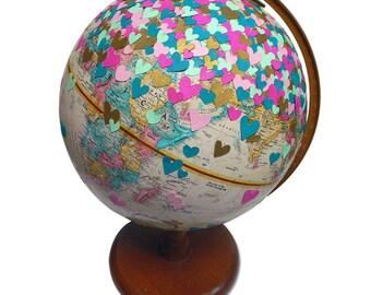Love, Vintage Globe Art