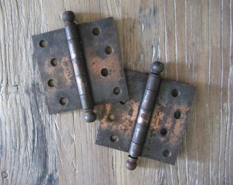 Pair Craftsman Tiger Striped Japanned Hinges
