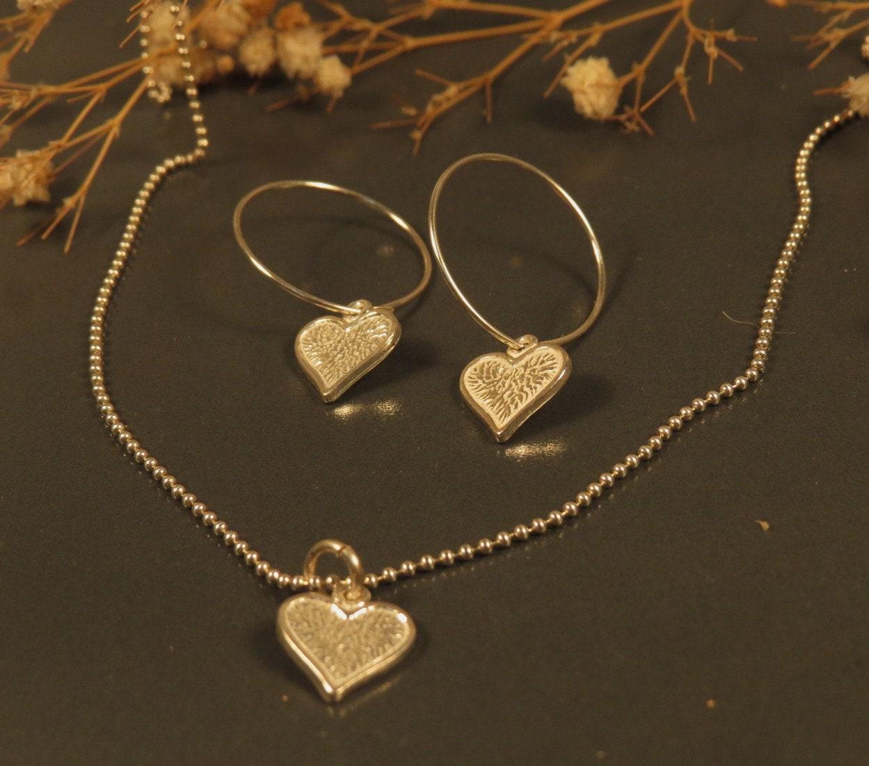 Heart hoop earrings, Silver heart earrings, Dainty heart hoops for Valentine gift or Birthday gift sister, best friend, mom