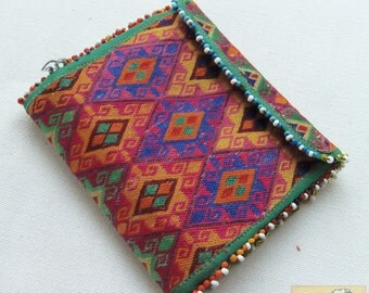 Afghanistan: Vintage Embroidered Pashtun Wallet or Pouch, Item E47