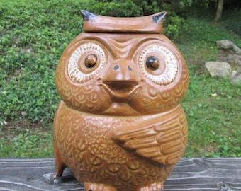 McCoy Pottery Owl Cookie Jar - 1971 - Vintage McCoy - Pottery Owl - Wedding Gift