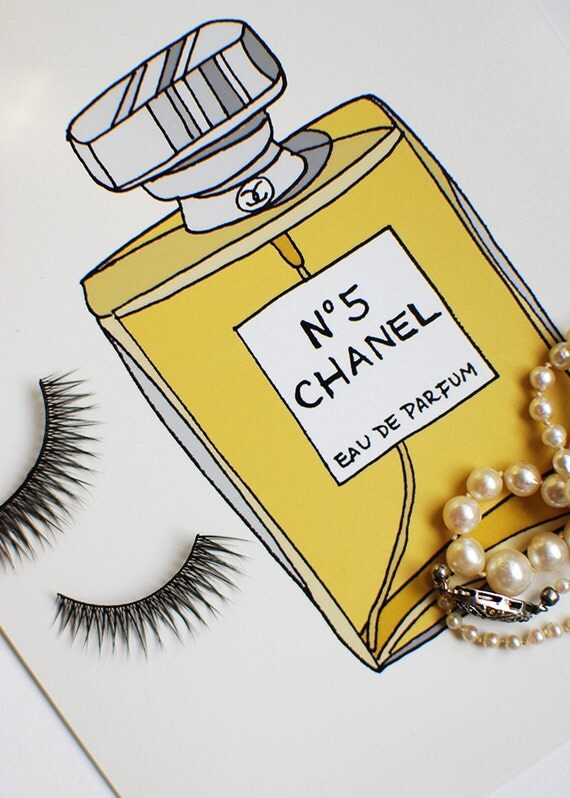 Chanel N.5 Perfume Fashion Illustration Art Print