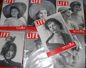 Life Look Post Magazines Collection Of 11 Vintage 1940s w Hat Covers