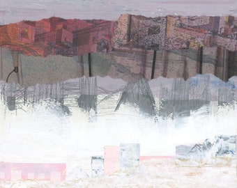 Fog City Abstract Art Collage