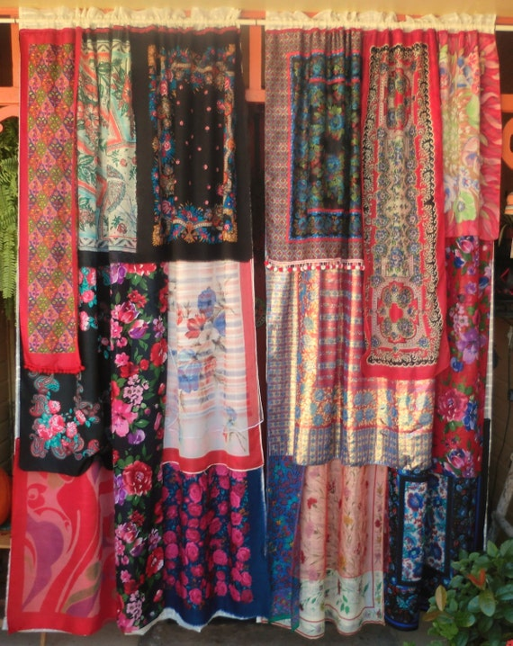 Boho beaded curtains