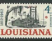 Vintage Unused US Postage Stamp 4c Louisiana Statehood stamp 1962.. Pack of 10