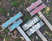 Barn Yard Party Signs Kids Party Sign Watering Hole Chuck Wagon Sweet Stop Fresh Lemonade YOUR WORDS 3 signs BBQ Sign Back Yard Parties