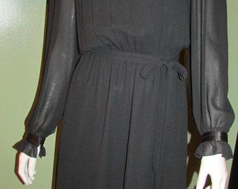 Vintage Neiman Marcus Black Dress Size 8
