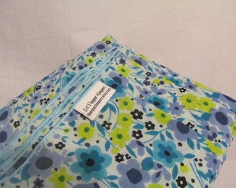 Gauze Baby Wrap - non stretchy cotton, super cool option for summer babywearing, baby carrier, baby shower gift, floral, blue, periwinkle