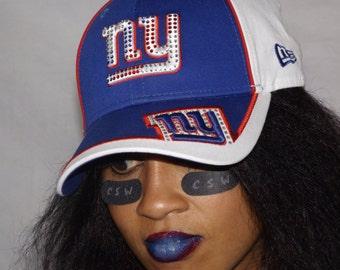 NY Giants Swarovski Crystal football cap