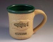 Michigan Brook Trout Mug/Michigan Fish Mug