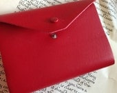 Red Leather Journal 100 pages Diary Spell Book Witch Recipes Cooking Thoughts