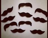"100 Pack MINI 1""-1.5"" Adhesive Felt Mustache Sticker Pack, Adhesive Mustaches, Mustache Bash, Adhesive Moustache, Mustache Party Favors"