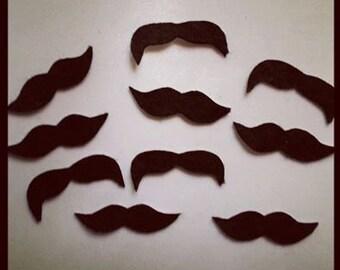 500 Bulk Adhesive Felt Mustache Sticker Pack, Adhesive Mustaches, Moustache, Bulk Mustache Stickers, Adhesive Moustache, Party Favors