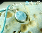 Raw Faceted Aquamarine Sterling Silver Pendant