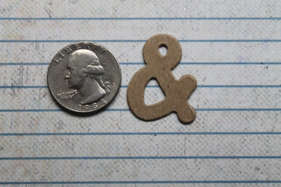 1 1 8 Inch Raw Dot Style Chipboard Diecut Ampersand Sign