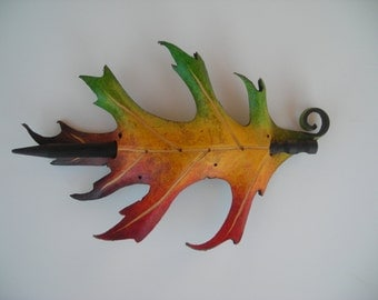 autumn pin oak  barrette