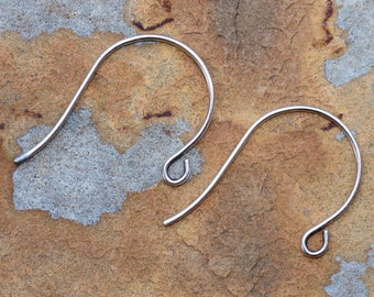 6 Antique Silver Earwire  26x18mm -  Nunn Designs Low Shipping