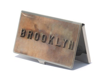 CARD CASE -Brooklyn Card Case - Business Card Case -  Brooklyn Card Holder - Graduation Gifts - Father's Day