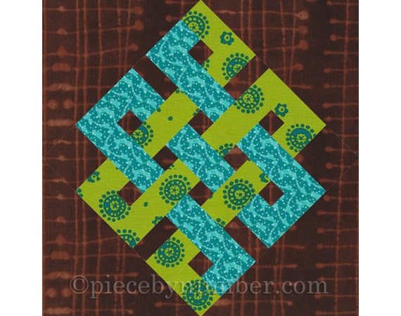 Eternity Knot rotary quick cut quilt block pattern PDF : easy quilt block patterns - Adamdwight.com