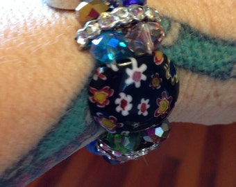 Aqua Millefiori Lampwork Watches ON SALE from 12.99 to 9.99