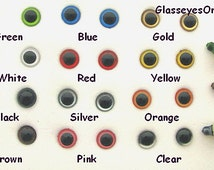22 Pair 6mm or 8mm or 9mm or 10mm Safety Eyes Mix Colors for teddy bear, doll, plush animal, crochet, sew, amigurumi, Puppets, ( PE-1 )