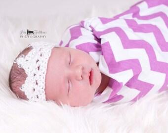 Crochet baby crown,  baby girl crown, Baptism crown, newborn photo prop, newborn baby crown,  first birthday tiara, baby boy crown