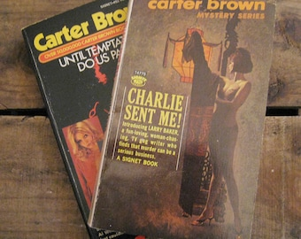 Vintage Carter Brown Mystery Series Books - Set of 2