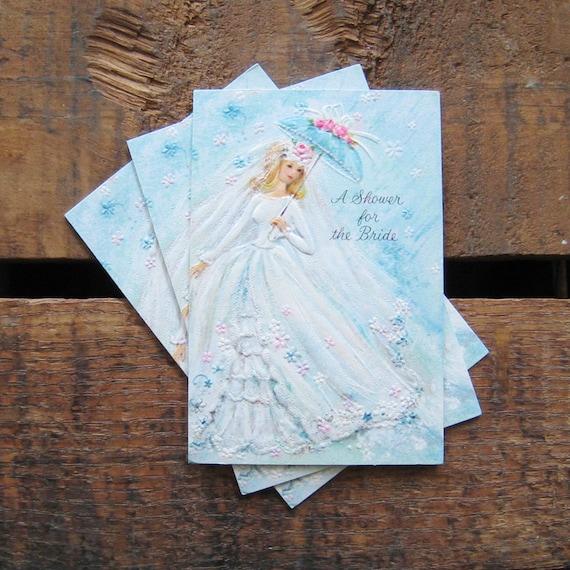 Hallmark Invitations Wedding: Vintage Hallmark Bridal Shower Invitations Set By