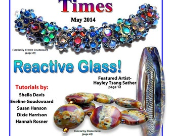 May 2014 Soda Lime Times Lampworking Magazine - Reactive Glass - (PDF) - by Diane Woodall