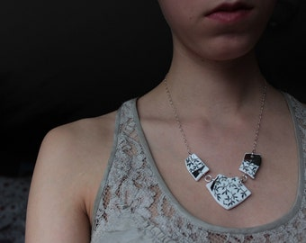 Sterling Silver and Broken Plate Necklace- Valdes