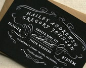Rustic Vintage Chalkboard Wedding Invitation