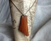 Asymmetrical Cedar Necklace