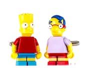 LEGO Cufflinks - Simpsons Bart Millhouse
