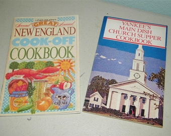 2 Vintage Yankee Cookbook Cook Book 8730 Magazine New England