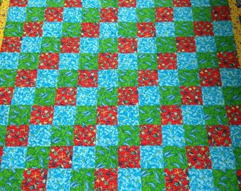 Tropical lap quilt