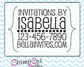 Personalized Customized custom handmade by created by rubber stamp