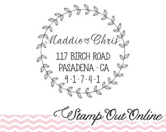 Custom personalized cute ROUND SELF INKING return address rubber stamp stamp --3117